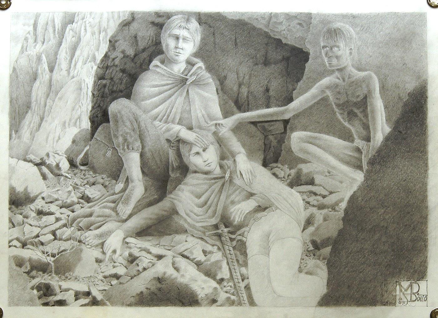 illustrazione da Tolkien Il SIgnore degli Anellings